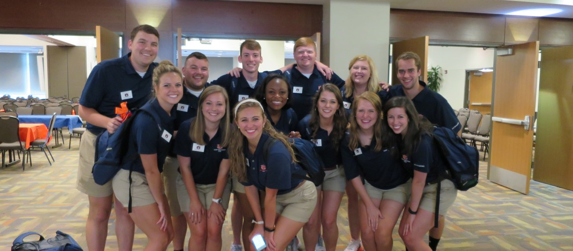 Camp War Eagle Staff Group Picture in the student center